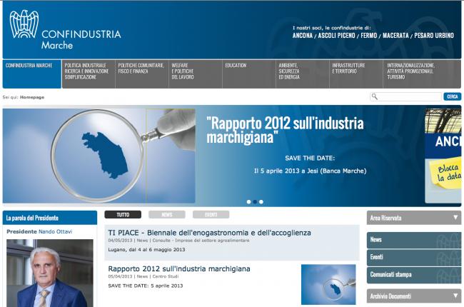 Sito web - Confindustria Marche